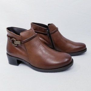 David Tate Miller Leather Ankle Boots - Made in Italy - 8M - New with Box